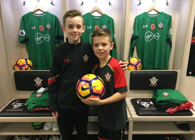 Young Saints fans enjoy kitman experience